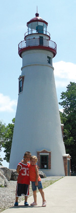 Kids at Marblehead Lighthouse